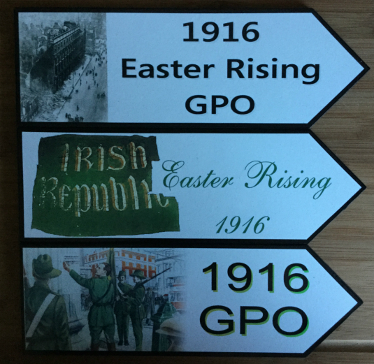 1916 Easter Rising GPO and Irish Republic Road Signs - Set of 3