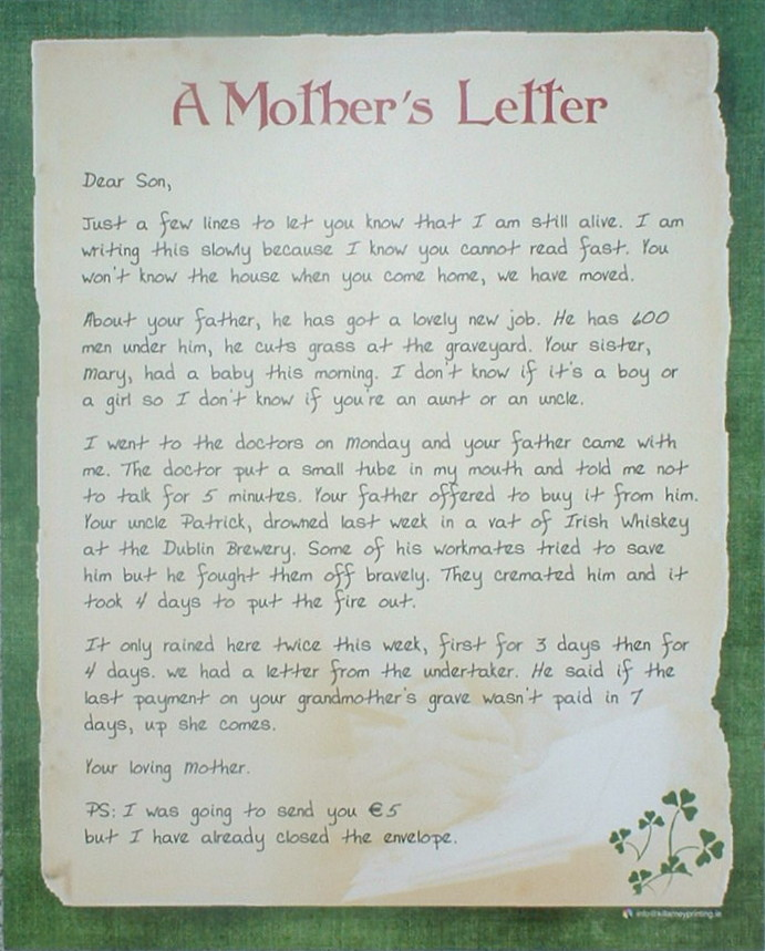 A Mother's Letter