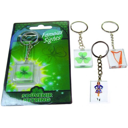 Ireland Set of 3 Acrylic Glass Keyrings
