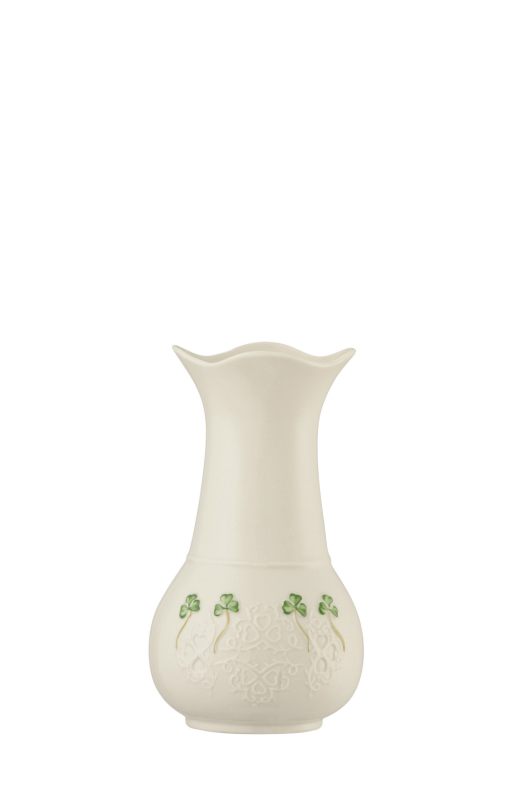 Belleek Shamrock Lace Vase 7 inch