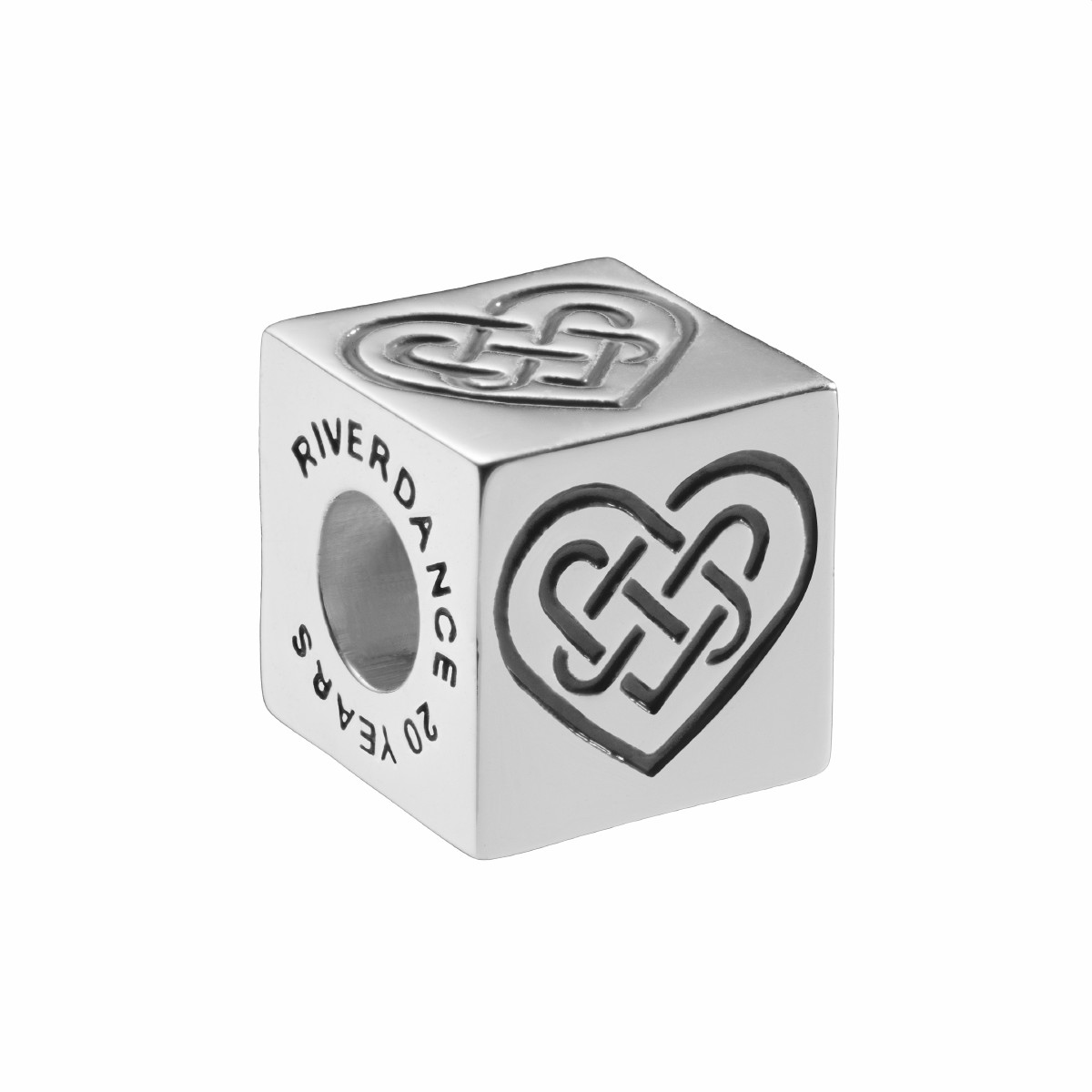 Official Riverdance Celtic Love Knot Cube Bead - Black