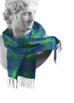 Donegal County Tartan Lambswool Scarf