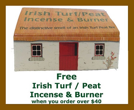 Free Irish Turf Peat Incense and Burner Cottage Box from www.irishshopper.com