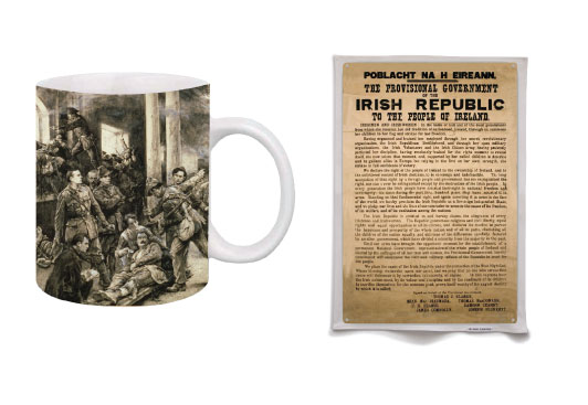 GPO Scene Mug and Proclamation Poster Tea Towel Set