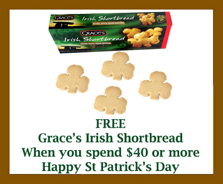 Free Box Graces Shamrock Shortbread from www.irishshopper.com