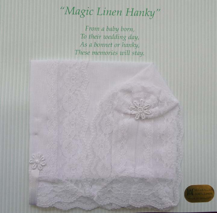 """ Magic "" Linen Hanky"