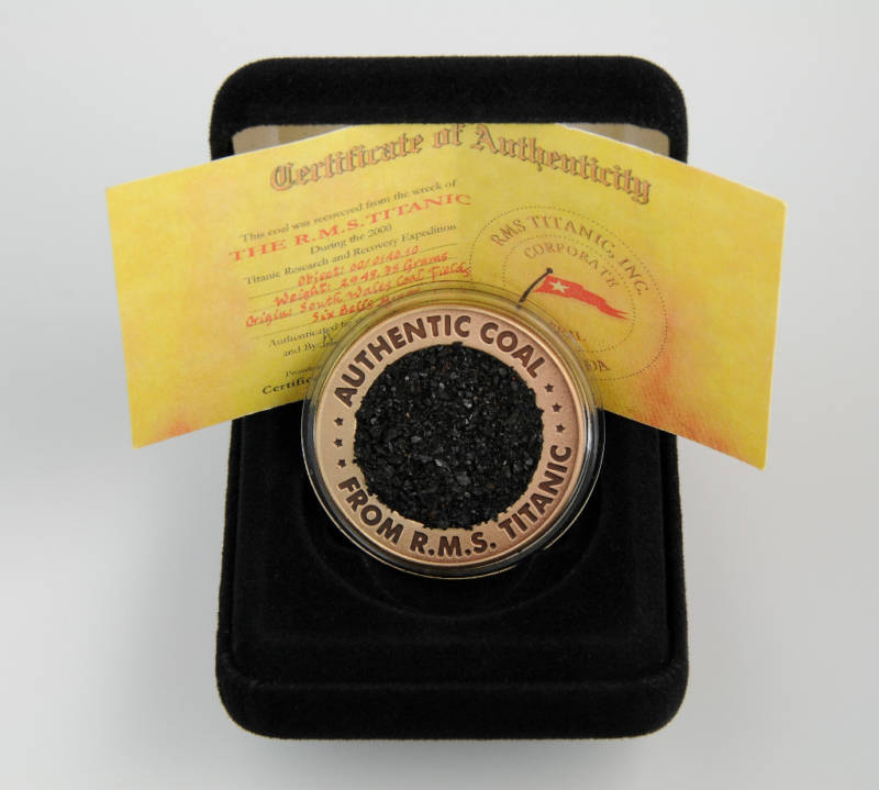 Titanic Limited Edition Commemorative Coal Coin
