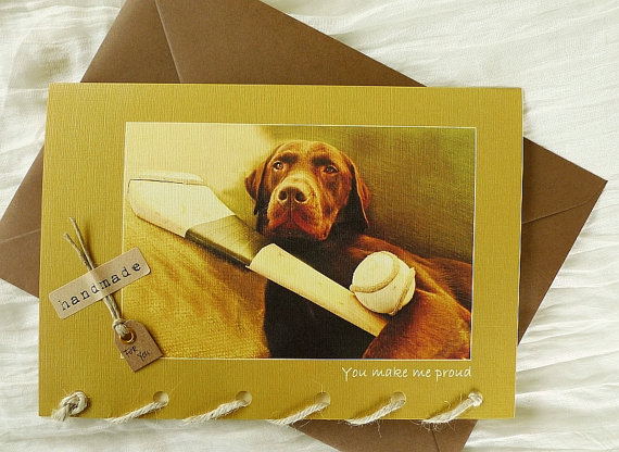 You Make Me Proud - Hurling - Labrador Dog - Greeting Card
