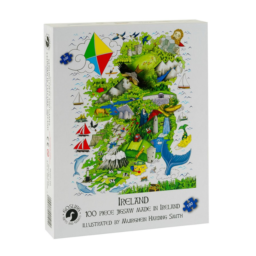 Map of Ireland Jigsaw Puzzle - 100 Pieces
