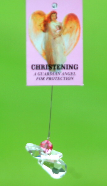 Crystal Hanging Angel/Christening Girl