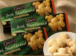 Grace's Irish Shamrock Shaped Shortbread 135g x 3 packs