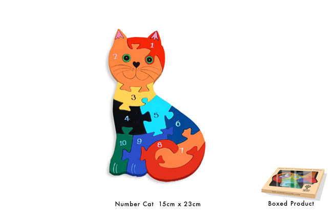 Number Cat Jigsaw