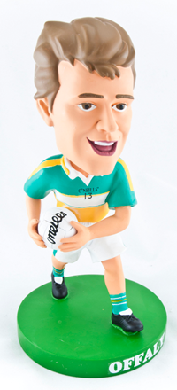 Offaly Gaelic Football Bobblehead Figurine | Irish Sport