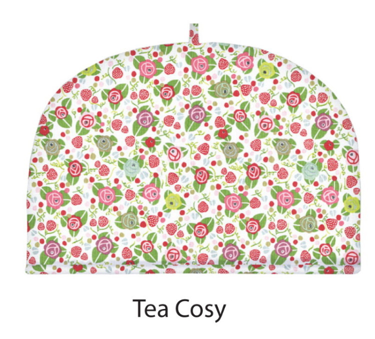 Strawberry Fair Cotton Tea Cosy by Julie Dodsworth